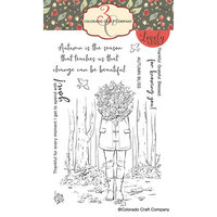 Colorado Craft Company - Lovely Legs Collection - Clear Photopolymer Stamps - Autumn Season - Leaves