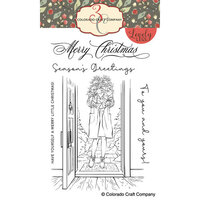 Colorado Craft Company - Lovely Legs - Clear Photopolymer Stamps - Winter Season Poinsettias