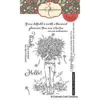 Colorado Craft Company - Lovely Legs Collection - Clear Photopolymer Stamps - Spring Season Daffodils