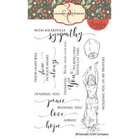 Colorado Craft Company - Lovely Legs Collection - Clear Photopolymer Stamps - Sky Lantern Sympathy