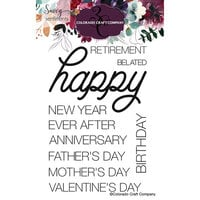 Colorado Craft Company - Savvy Sentiments Collection - Clear Photopolymer Stamps - Happy Occasions