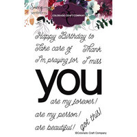 Colorado Craft Company - Savvy Sentiments Collection - Clear Photopolymer Stamps - You Greetings