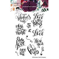 Colorado Craft Company - Savvy Sentiments Collection - Clear Photopolymer Stamps - You and Me