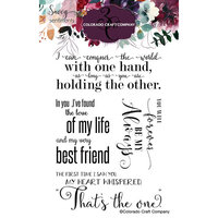 Colorado Craft Company - Savvy Sentiments Collection - Clear Photopolymer Stamps - Large Love Quotes