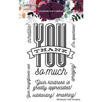 Colorado Craft Company - Savvy Sentiments Collection - Clear Photopolymer Stamps - Thank You So Much