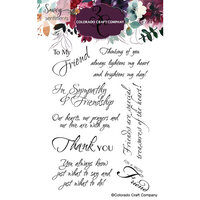 Colorado Craft Company - Savvy Sentiments Collection - Clear Photopolymer Stamps - Friendship Greetings