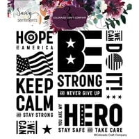 Colorado Craft Company - Savvy Sentiments Collection - Clear Photopolymer Stamps - America Strong