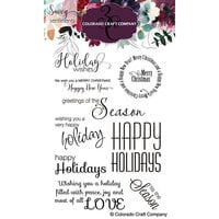 Colorado Craft Company - Savvy Sentiments Collection - Clear Photopolymer Stamps - Holiday Wishes