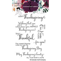 Colorado Craft Company - Savvy Sentiments Collection - Clear Photopolymer Stamps - Truly Thankful