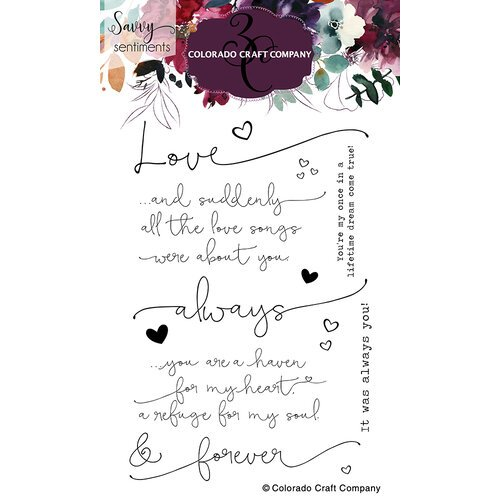 Colorado Craft Company - Savvy Sentiments - Clear Photopolymer Stamps - Always and Forever