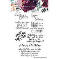 Colorado Craft Company - Savvy Sentiments Collection - Clear Photopolymer Stamps - Birthday Blessings