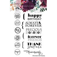 Colorado Craft Company - Savvy Sentiments Collection - Clear Photopolymer Stamps - General Greetings