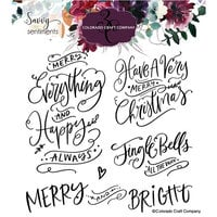 Colorado Craft Company - Savvy Sentiments Collection - Clear Photopolymer Stamps - Merry Everything Sentiments