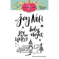 Colorado Craft Company - Whimsy World Collection - Clear Photopolymer Stamps - Noel