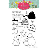 Colorado Craft Company - Whimsy World Collection - Clear Photopolymer Stamps - Layering Sweater Bears