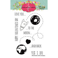 Colorado Craft Company - Whimsy World Collection - Clear Photopolymer Stamps - To The Moon