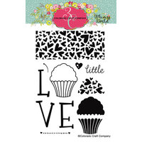 Colorado Craft Company - Whimsy World Collection - Clear Photopolymer Stamps - Little Love