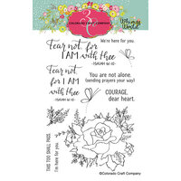 Colorado Craft Company - Whimsy World Collection - Clear Photopolymer Stamps - Fear Not Rose