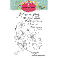 Colorado Craft Company - Whimsy World Collection - Clear Photopolymer Stamps - Bless the Lord