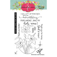 Colorado Craft Company - Whimsy World Collection - Clear Photopolymer Stamps - Lift My Eyes Daffodils