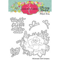 Colorado Craft Company - Whimsy World Collection - Dies - Fear Not Rose