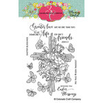 Colorado Craft Company - Whimsy World Collection - Clear Photopolymer Stamps - Rose Cross