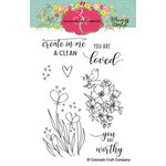 Colorado Craft Company - Whimsy World Collection - Clear Photopolymer Stamps - Clean Heart Bookmarks