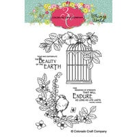 Colorado Craft Company - Whimsy World Collection - Clear Photopolymer Stamps - Life Lasts
