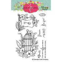 Colorado Craft Company - Whimsy World Collection - Clear Photopolymer Stamps - Be Free