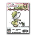 CC Designs - Cling Mounted Rubber Stamps - Fancy Sunbonnet Lucky