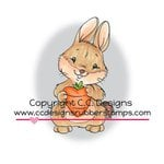 CC Designs - Cling Mounted Rubber Stamps - Carrot Love