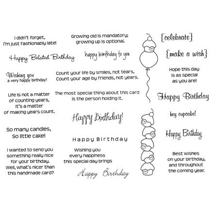 CC Designs Birthday Sentiments Stamps