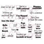 CC Designs - Cling Mounted Rubber Stamps - Beach Sentiments