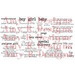CC Designs - Cling Mounted Rubber Stamps - Baby Sentiments