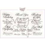 CC Designs - Cling Mounted Rubber Stamps - Elegant Greetings Sentiments