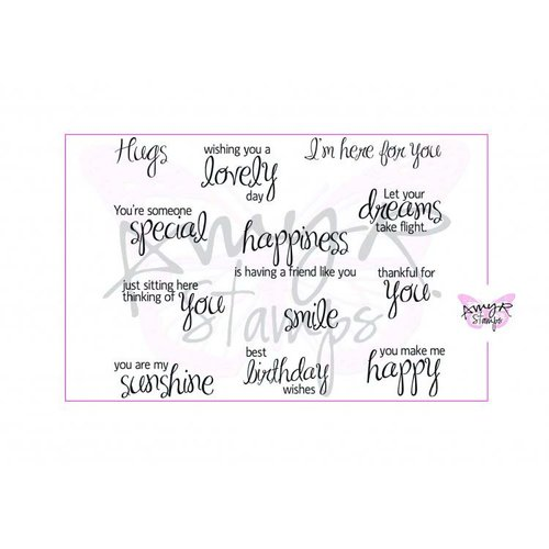 CC Designs - Cling Mounted Rubber Stamps - Be Happy Sentiments