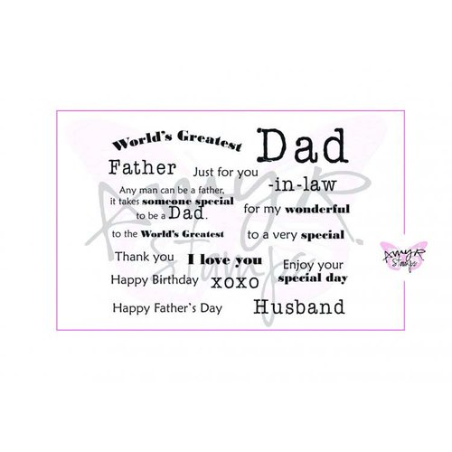 CC Designs - Cling Mounted Rubber Stamps - All About Dad Sentiments