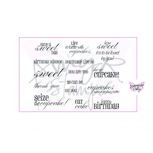 CC Designs - Cling Mounted Rubber Stamps - Sweet Sentiments