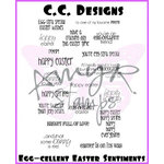 CC Designs - Cling Mounted Rubber Stamps - Egg-cellent Easter Sentiments