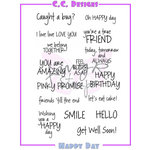 CC Designs - Cling Mounted Rubber Stamps - Happy Day Sentiments
