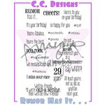 CC Designs - Cling Mounted Rubber Stamps - Rumor Has It