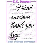 CC Designs - Cling Mounted Rubber Stamps - More Scripted Sentiments