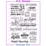 CC Designs - Halloween - Cling Mounted Rubber Stamps - Spooked Out