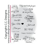 CC Designs - Amy R Collection - Cling Mounted Rubber Stamps - Elegant Valentine
