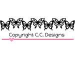 CC Designs - Cutter Dies - Butterfly Border