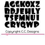 CC Designs - Cutter Dies - Bubble Alphabet