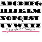 CC Designs - Cutter Dies - Doodledoo Uppercase