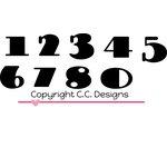 CC Designs - Cutter Dies - Doodledoo Numbers