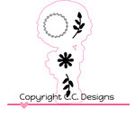 CC Designs - Cutter Dies - Lucy with Bunnies Outline