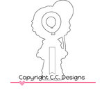 CC Designs - Cutter Dies - Rose with Balloon Outline